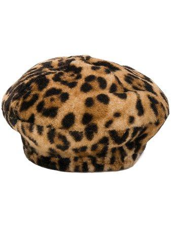 Yves Salomon Accessories Leopard Print Beret Aw19   Farfetch.com
