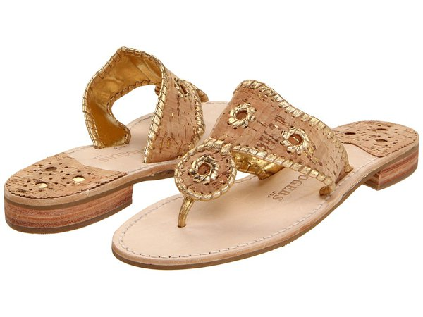 Jack Rogers - Napa Valley (Cork/Gold Stitching) Women's Sandals
