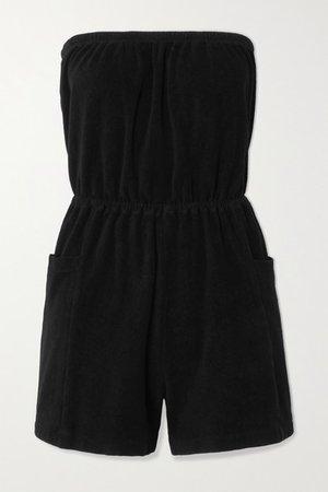 Cotton-terry Playsuit - Black