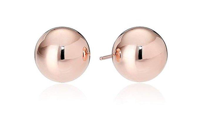 14k Rose Gold 6mm Ball Stud Earrings: Amazon.ca: Jewelry