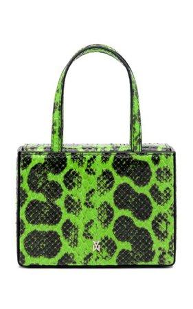 Super Amini Giorgia Snake-Effect Leather Top Handle Bag By Amina Muaddi | Moda Operandi