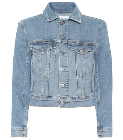 Stretch cotton denim jacket