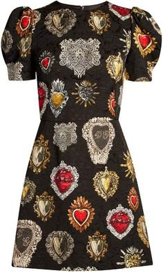 (7) Pinterest - Sacred hearts jacquard mini dress | Dolce & Gabbana | MATCHESFASHION.COM US | Nn