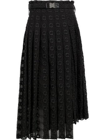 Fendi Lace Pleated Skirt