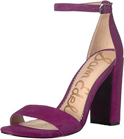 Amazon.com | Sam Edelman Women's Yaro Heeled Sandal, Purple Plum, 10.5 M US | Heeled Sandals