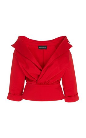 Collar-Detailed Cotton Top by Brandon Maxwell | Moda Operandi