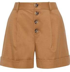 Tomasa Pleated Cotton-blend Twill Shorts
