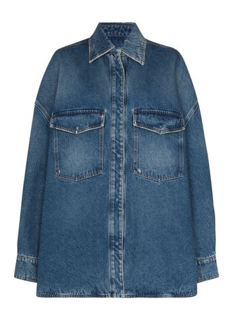 The Attico Oversized Denim Jacket