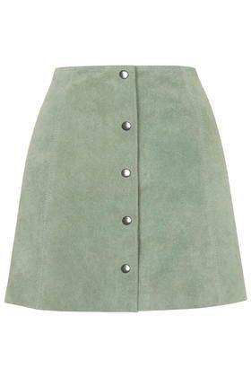 pastel green skirt
