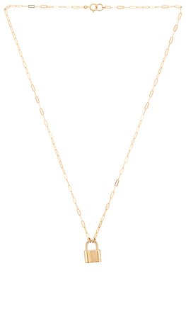 Joy Dravecky Jewelry Monaco Lock Necklace in Gold | REVOLVE