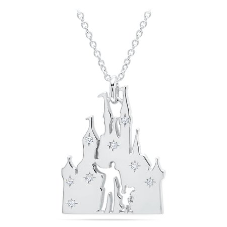 Walt Disney and Mickey Fantasyland Castle Necklace by CRISLU | shopDisney