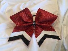 Black and Maroon Cheer Bow