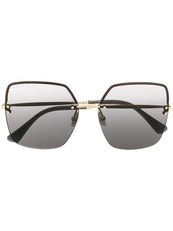 Jimmy Choo Eyewear Tavi/S oversized square sunglasses gold TAVIS - Farfetch