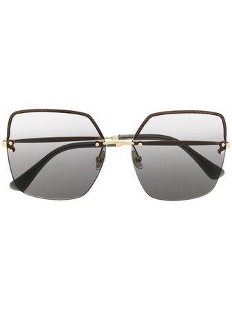 Jimmy Choo Eyewear Tavi/S oversized square sunglasses gold TAVIS - Farfetch