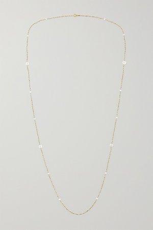 Gold 14-karat gold pearl necklace   Mizuki   NET-A-PORTER
