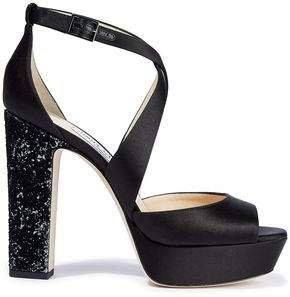 April 120 Satin Platform Sandals