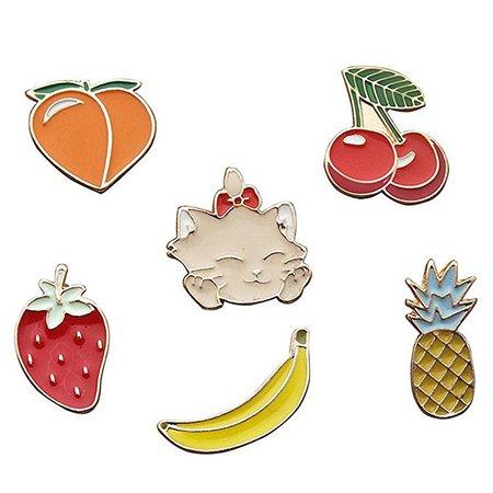 Amazon.com: Cartoon Animal Enamel Lapel Pins Cute Plant Brooches Pin Badges for Children Women Girls Clothing Bags Backpacks Jackets Hat Decor (Puppy Hedgehog Goldfish Bowl Set of 6): Clothing