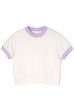 White and Lavender Crop Top