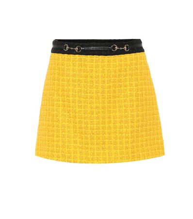 Tweed Miniskirt   Gucci - mytheresa.com