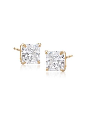 gold diamond stud