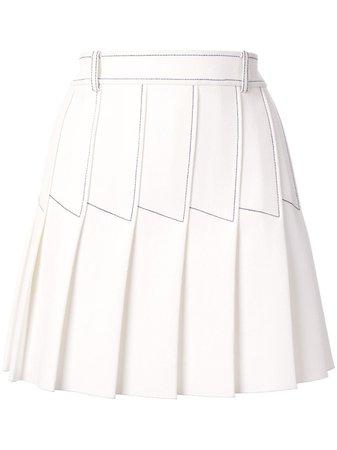 Dion Lee Column Pleat Mini skirt white & black A1290S20 - Farfetch
