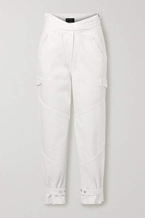 Dallas High-rise Tapered Jeans - White