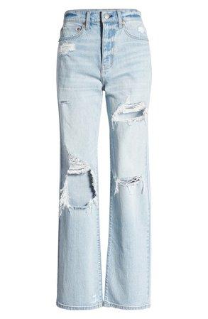 DAZE Sundaze Ripped High Waist Dad Jeans (Motto) | Nordstrom