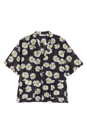John Elliott Resort Daisy Print Button-Up Shirt | Nordstrom