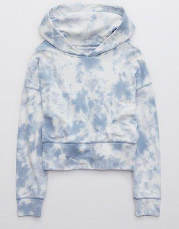 OFFLINE OTT Fleece Cropped Hoodie blue