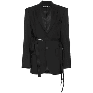 Hyein Seo Harness Belt Oversized Blazer - Farfetch