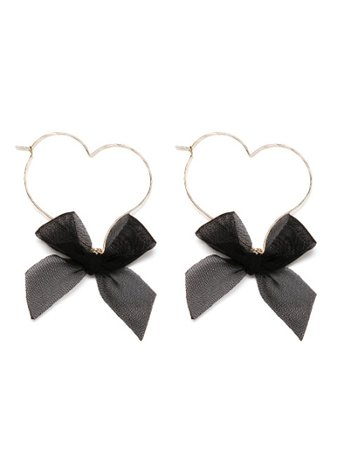 Metal Heart Ribbon Earrings GL (Accessory / Pierce) | Mail Order of BUBBLES (Bubbles) | Fashion Walker