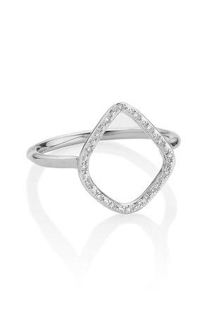 Monica Vinader Riva Diamond Hoop Ring   Nordstrom