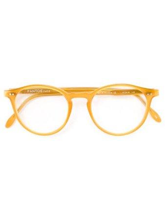 Pantos Paris round frame optical glasses yellow PANTOS - Farfetch