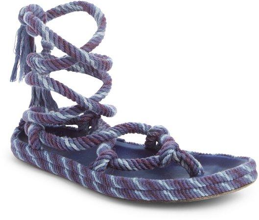 Erol Twisted Rope Ankle Tie Sandal