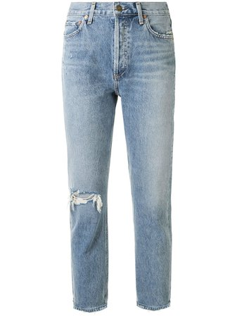 AGOLDE Riley high-rise Cropped Jeans - Farfetch