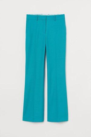 Wool-blend Dress Pants - Turquoise - Ladies   H&M US
