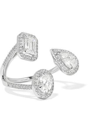 Messika | My Twin Trilogy 18-karat white gold diamond ring | NET-A-PORTER.COM