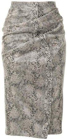 Snakeskin Print Pencil Skirt