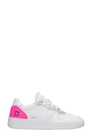 D.A.T.E. Court Sneakers In White Leather