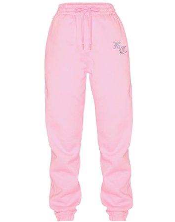 HIDDEN CULT Explicit Rhinestone Pink Unisex Sweatpants