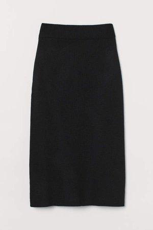 Fine-knit Skirt - Black