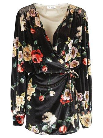 The Attico Floral Print Mini Dress