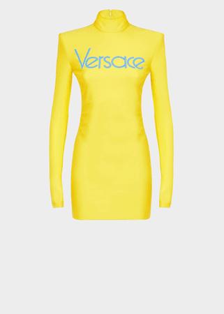 versace vintage logo dress