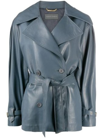 Alberta Ferretti Vintage Cut Leather Jacket - Farfetch