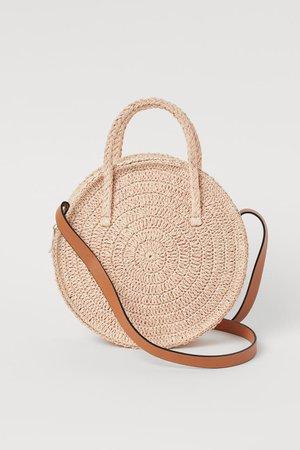 Round Straw Bag - Beige - Ladies | H&M CA