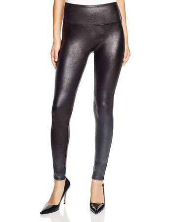 SPANX® Faux-Leather Leggings | Bloomingdale's