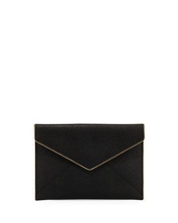 Rebecca Minkoff Leo Saffiano Clutch Bag | Neiman Marcus