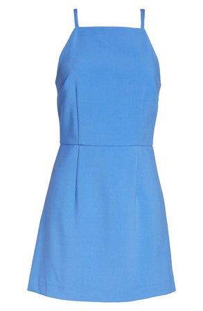 French Connection Whisper Light Sheath Minidress blue