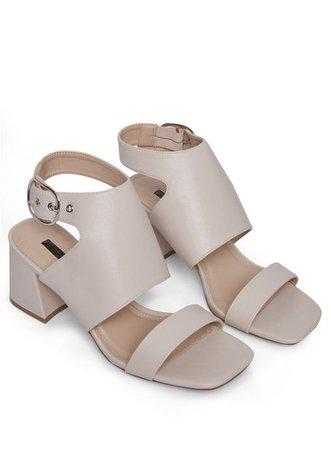 SHADE White High Vamp Sandals   Miss Selfridge