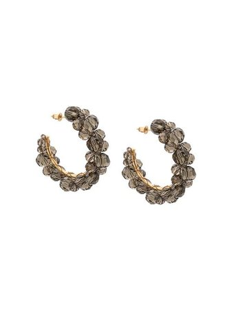 Simone Rocha Crystal Beaded Hoop Earrings - Farfetch